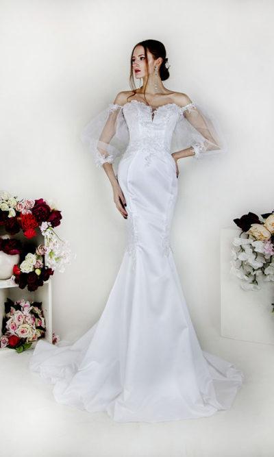 Robe de mariée sur mesure coupe sirène créateur parisien
