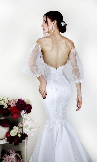 Robe de mariée sexy moulante avec manches