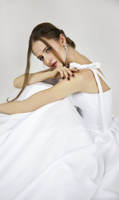 Robe de mariée avec corset simple