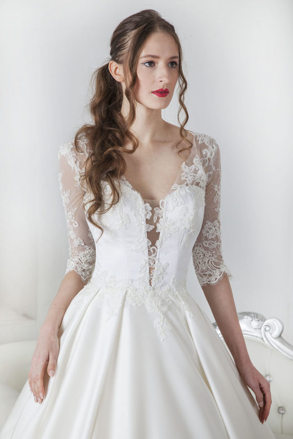 Robe de mariée créateur sur mesure Paris