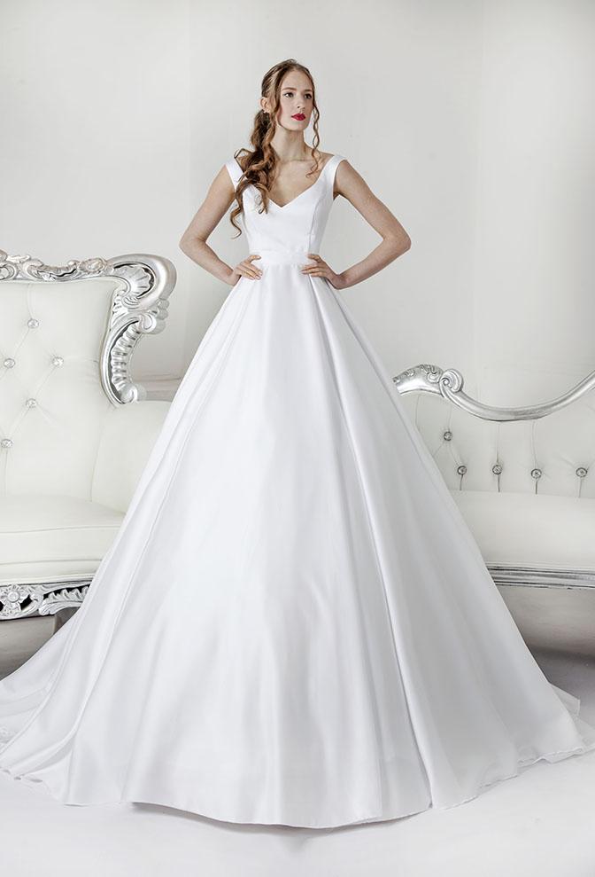 Robe de mariée princesse moderne et satin