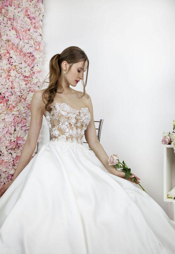 Robe de mariée transparente sexy