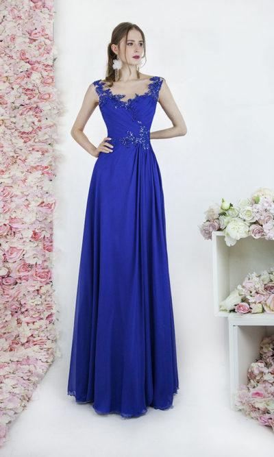 Robe du soir pour bal ou mariage couleur bleu