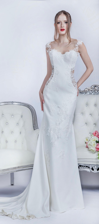 Robe de mariée achat à Paris avec dentelle transparente