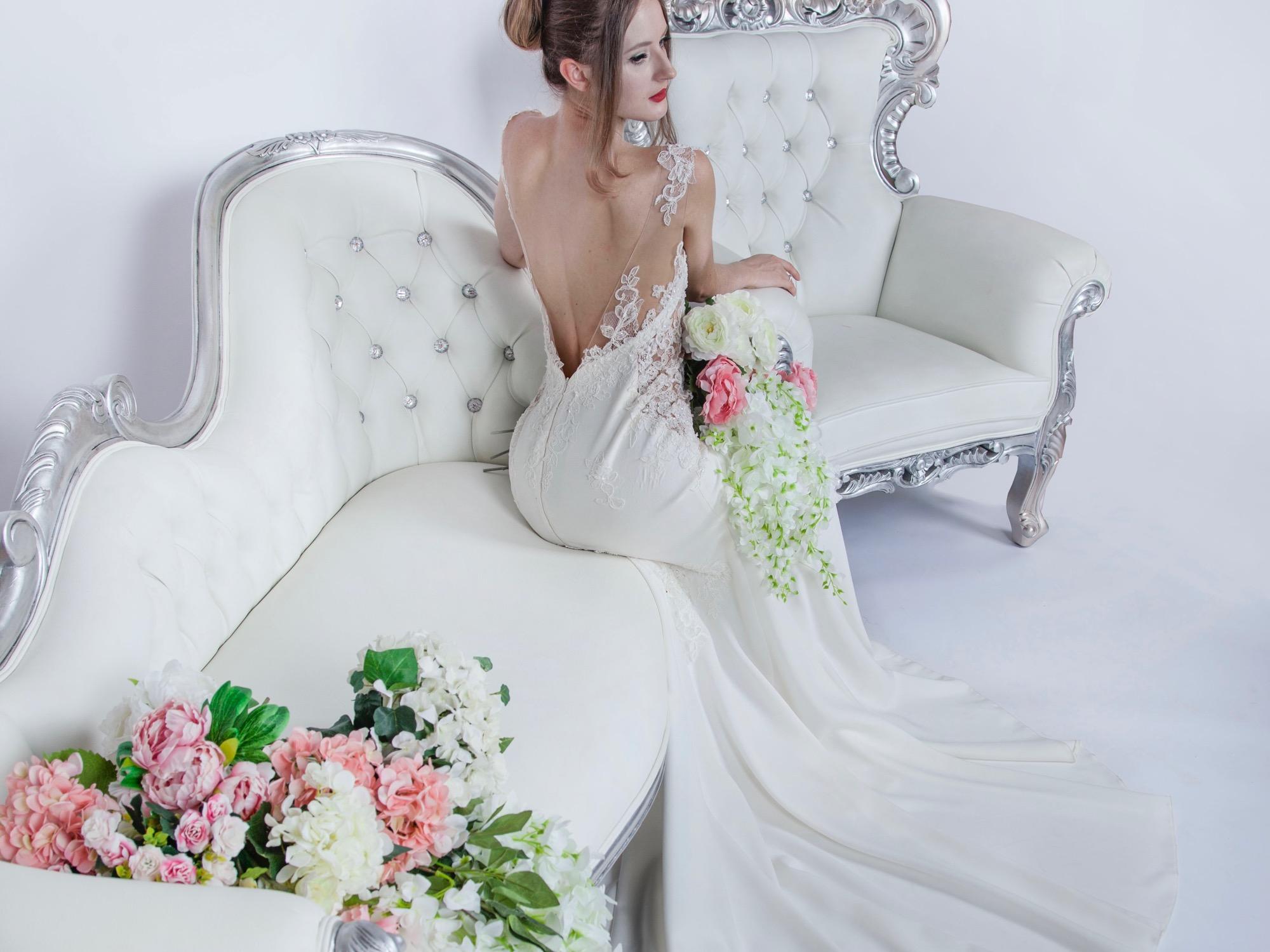 Robe de mariée d'une allure champetre