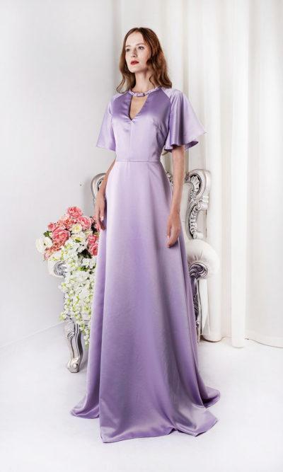 Robe de soirée pour maman de la mariée couleur violette