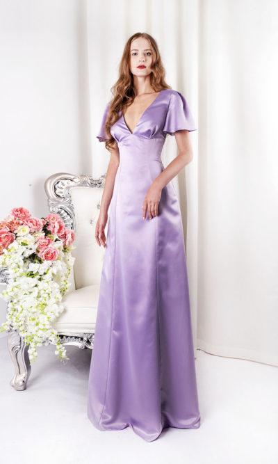 Robe du soir longue couleur pastel