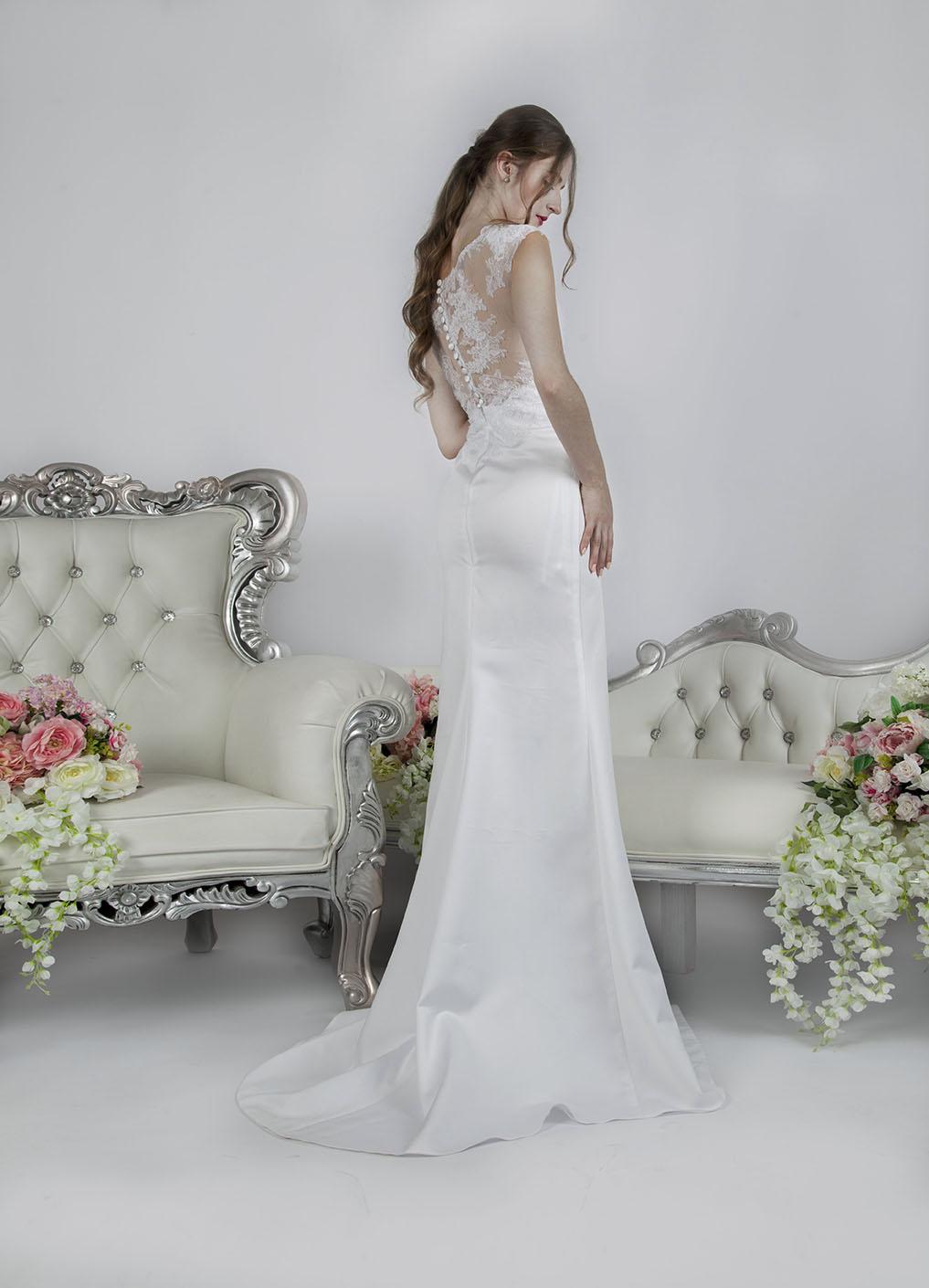 Robe de mariée sexy avec une fente