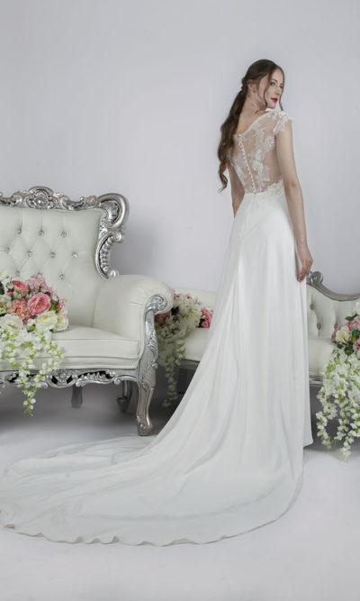 Belle robe de marie en mousseline