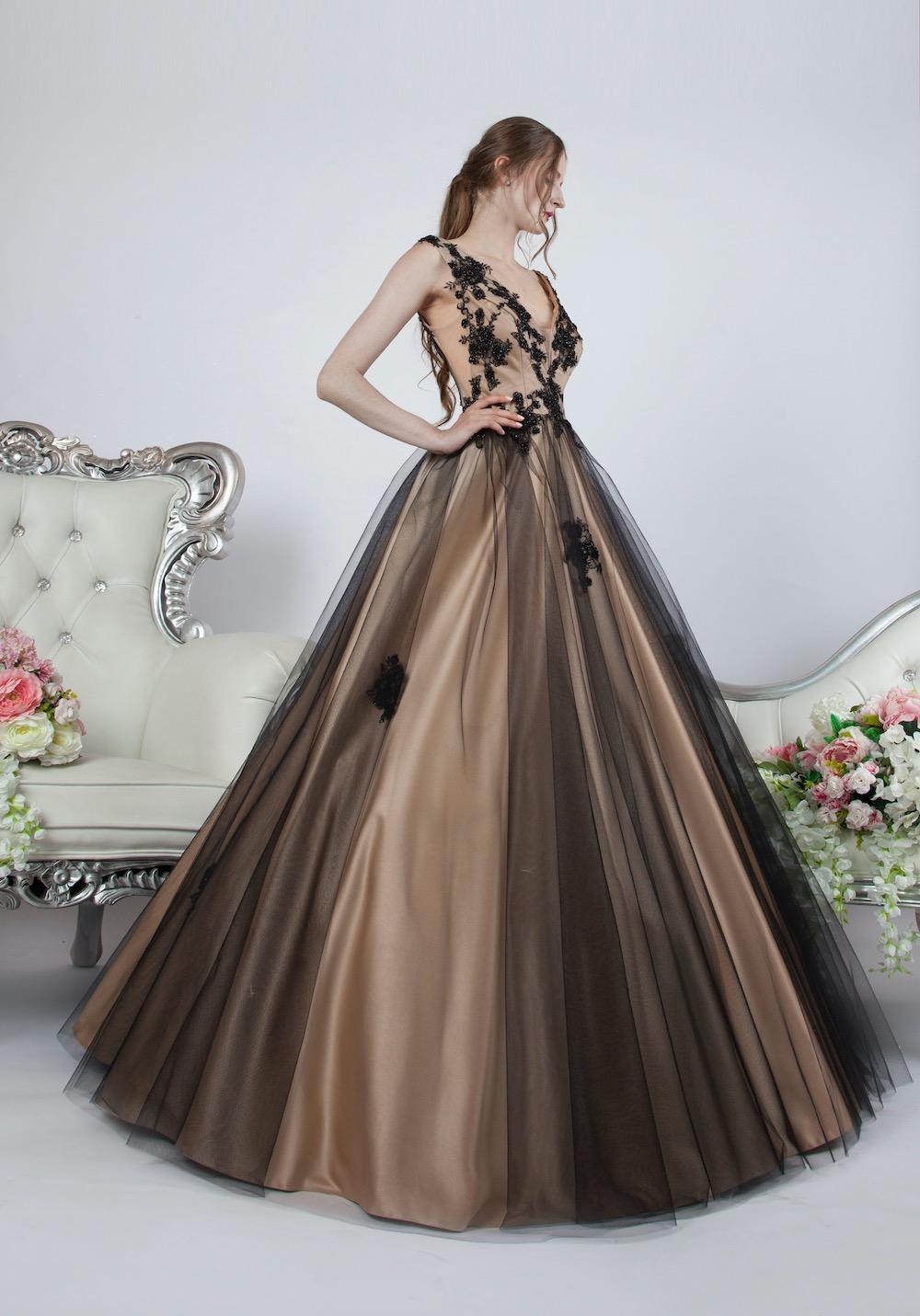 Robe de gala type princesse avec grande jupe