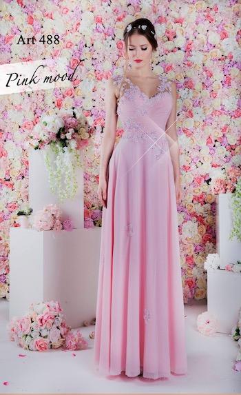 Robe témoin mariage à Paris rose pâle
