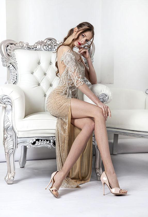 Robe de soirée transparente sexy