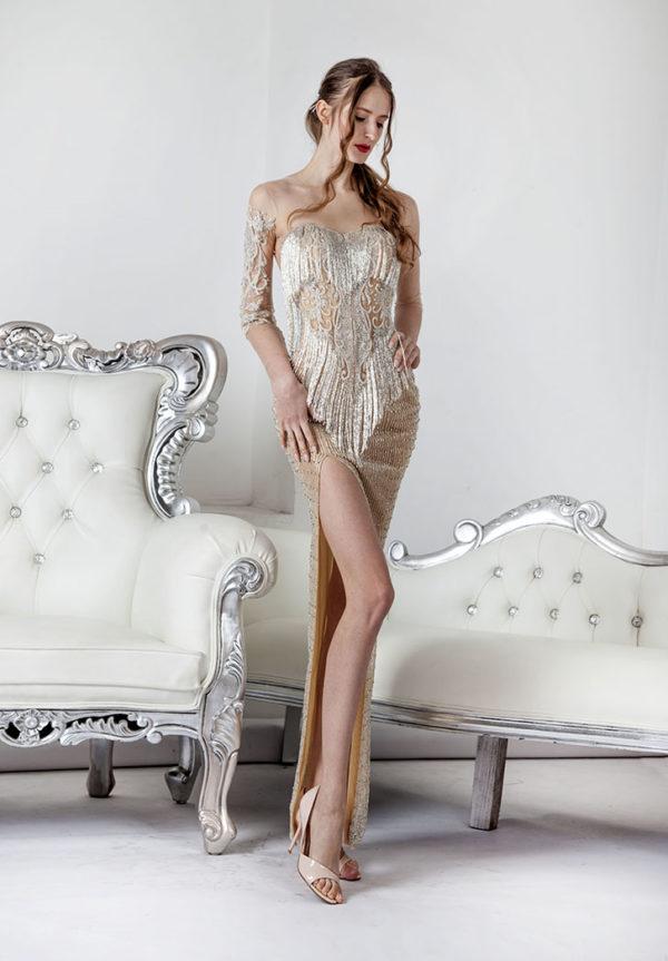 Robe de soirée époque Gatsby à Paris