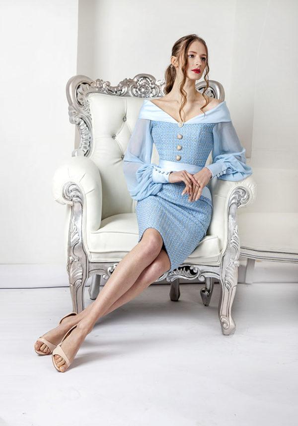 Robe de cocktail pour demoiselle d'honneur mariage