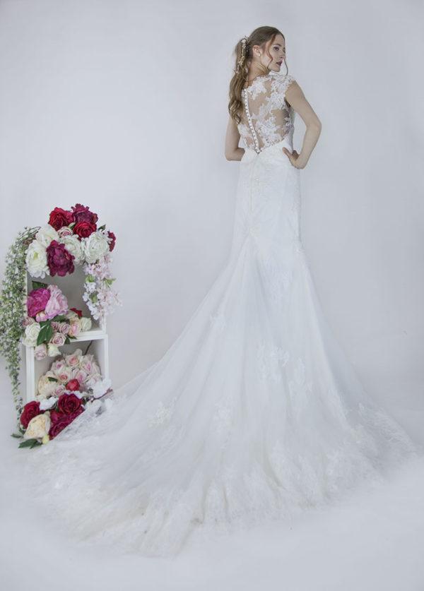 Robe de marie avec un dos sexy