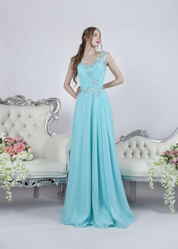 Belle robe de soirée de style empire Paris