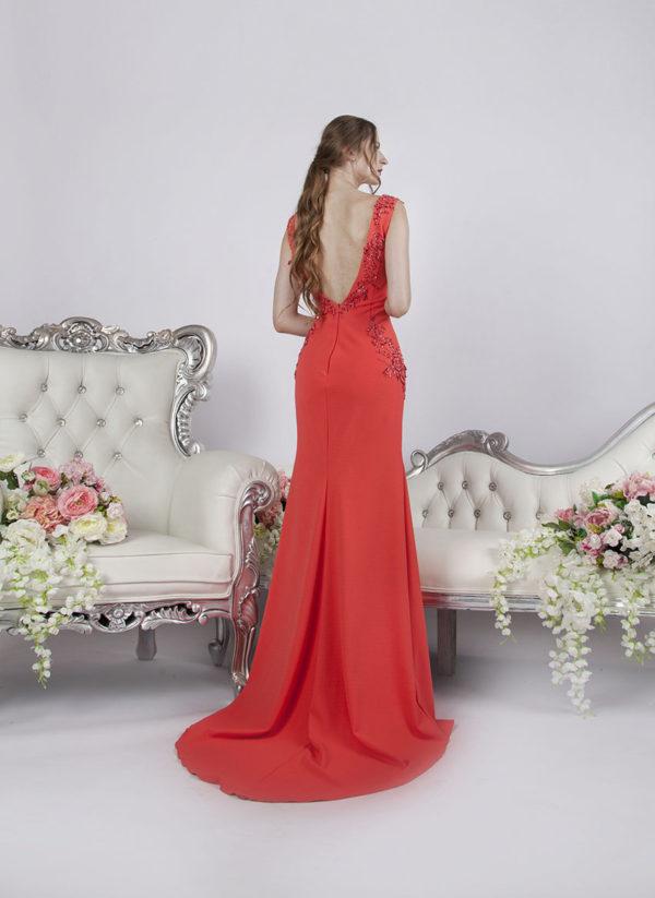 Belle robe de soirée en crêpe élégant et élastique
