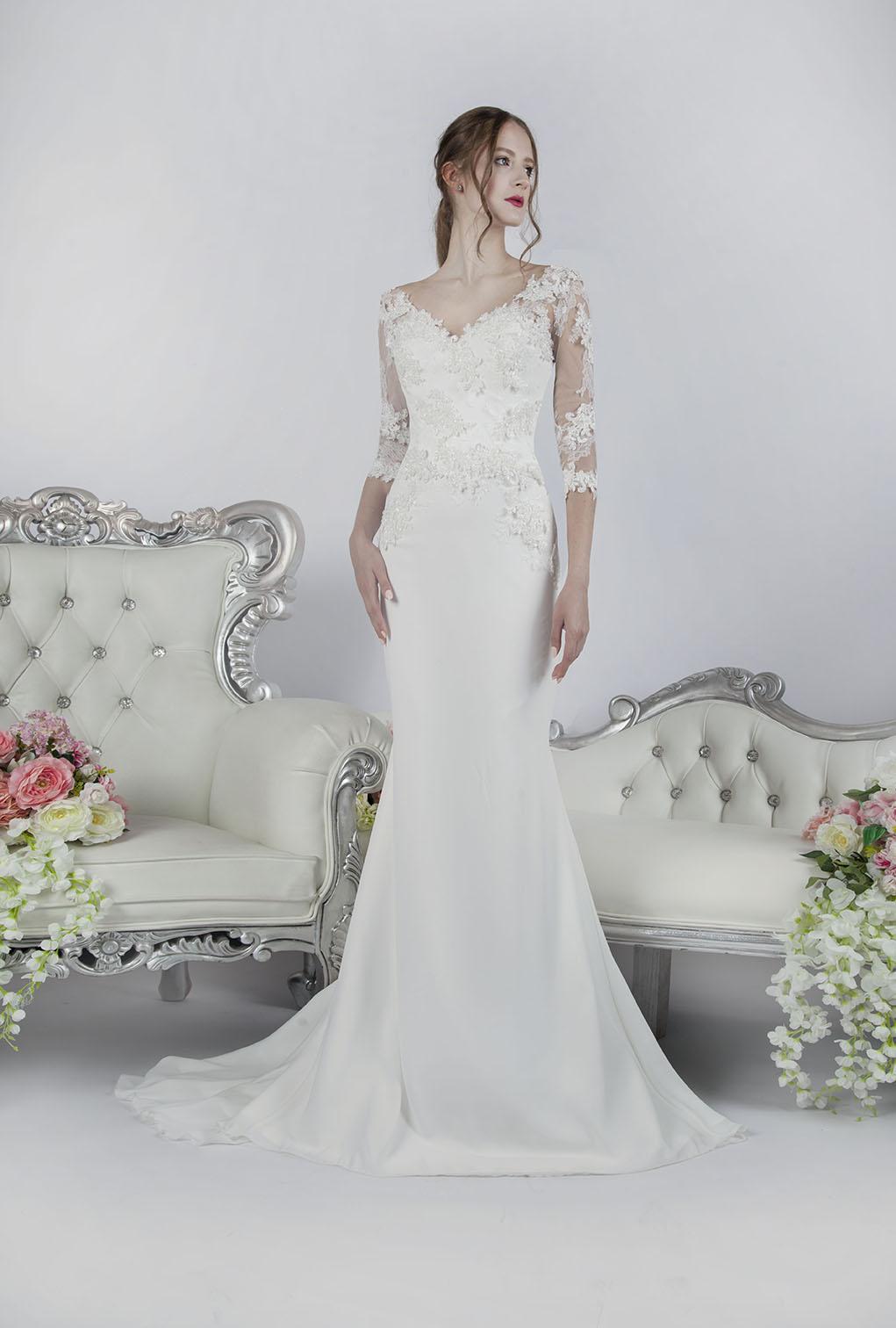 Robe de mariage Paris couleur blanc cassé