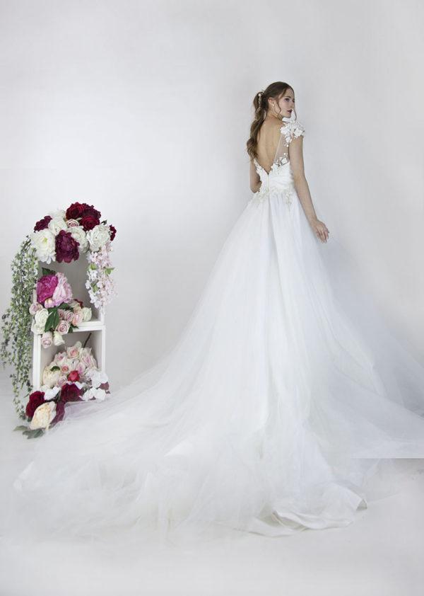 Robe de mariée romantique en tulle et broderies