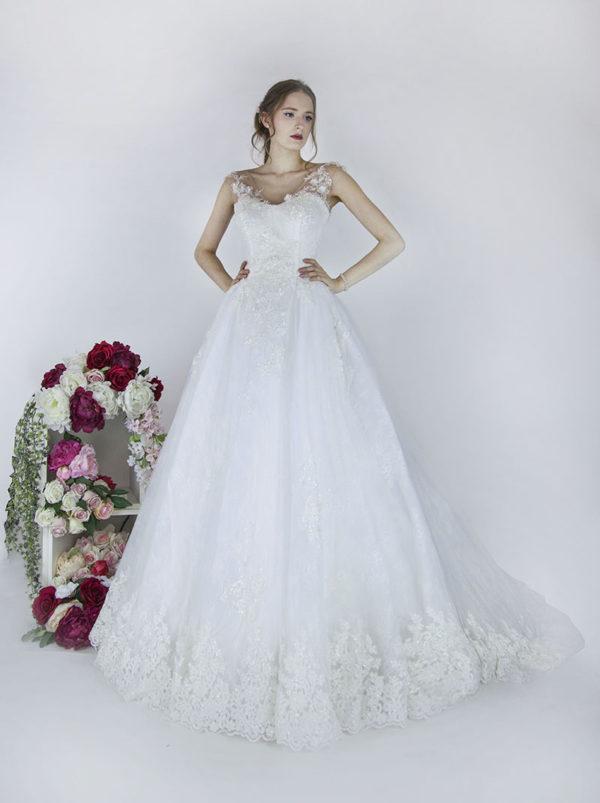Robe de mariée style princesse luxueuse Paris