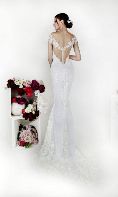 Robe de mariée sirène en dentelle sur mesure Paris
