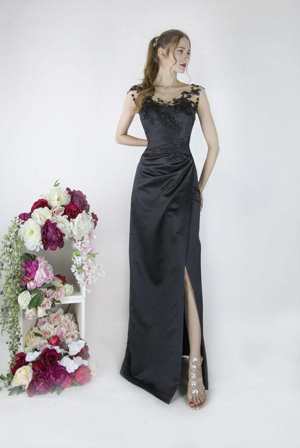 Robe de soirée pour mariage grande taille noire