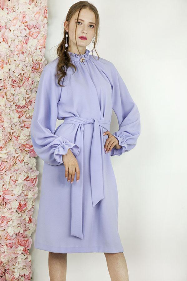 Robe de soirée courte couleur lila pastel