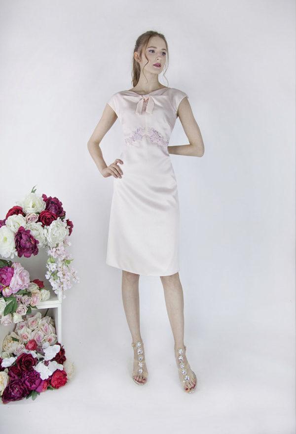 Robe de cérémonie pour mariage rose pastel