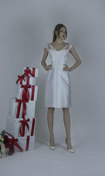 Robe de mariée simple pour la mairie