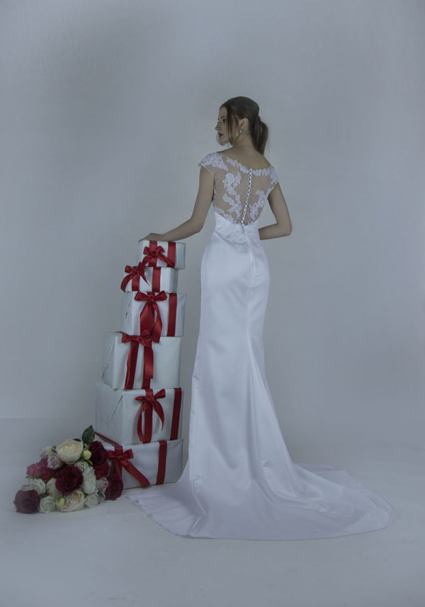 Robe de mariée sirène à Paris d'une allure très sensuelle