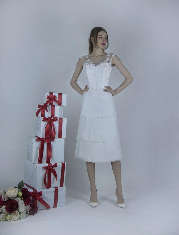 Robe de mariée courte et fluide
