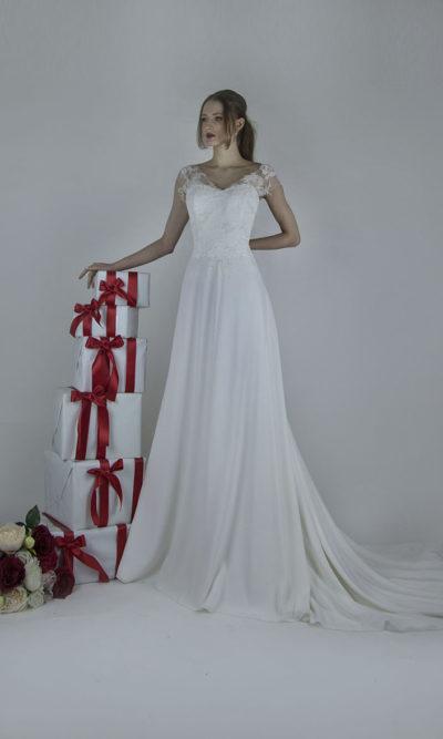 Robe de mariage en mousseline fine de qualité