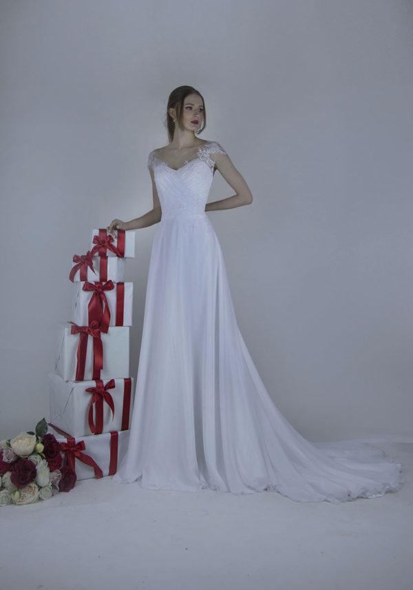 Magnifique robe de mariée légère et tendre
