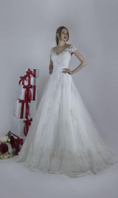 Robe de mariée d'un style classique mais légèr