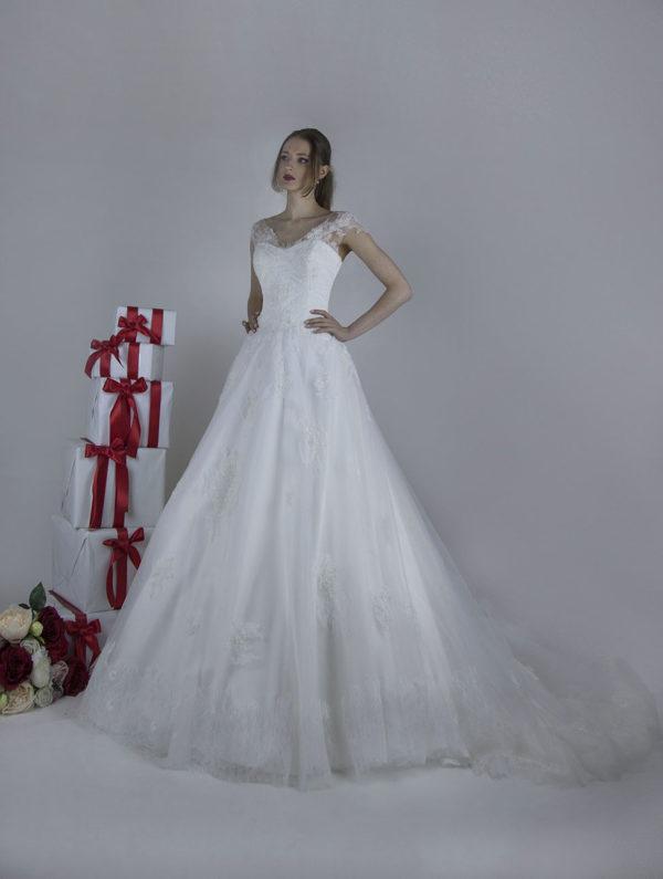 Robe de mariée en A à Paris