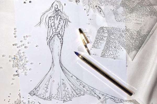 Tarif pour une robe sur mesure de créateur à Paris