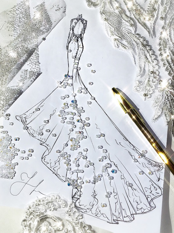 Créateur à Paris robe de mariage