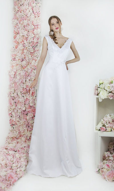 Robe de mariée jupe fluide et simple style empire