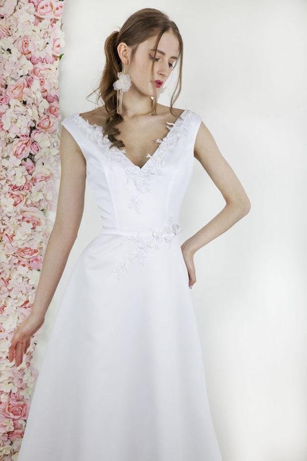 Robe de mariée simple grande taille