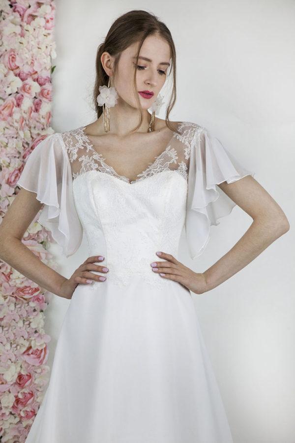 Robe de mariage simple et épurée