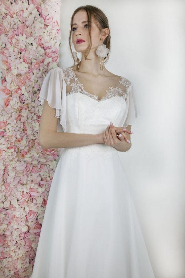 Robe de mariée magasin Paris en dentelle française