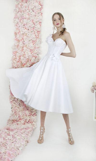Robe de mariage civil courte avec corset