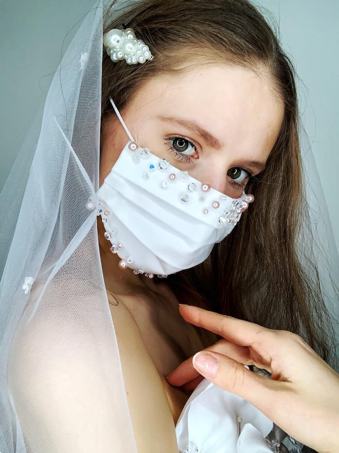 Accessoire mariage mariée coronavirus