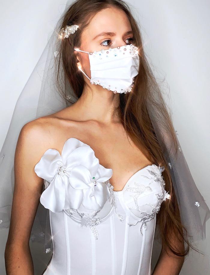 Masque contre COVID mariage Paris