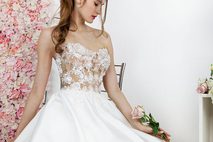 Créateur à Paris robe de mariée sur mesure